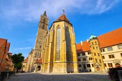 Rothenburg in Germany, the church stock image