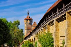 The old town Rothenburg in Germany royalty free stock photos