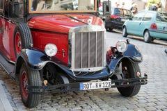 ROTHENBURG, GERMANY/EUROPE - 26 DE SETEMBRO: Bu vermelhos antiquados fotografia de stock royalty free