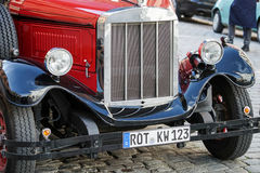 ROTHENBURG, GERMANY/EUROPE - 26 DE SETEMBRO: Bu vermelhos antiquados foto de stock