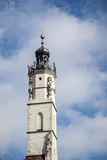 ROTHENBURG, GERMANY/EUROPE - SEPTEMBER 26 : Old clock tower in R. Othenburg Germany on September 26, 2014 stock images