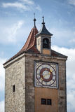 ROTHENBURG, GERMANY/EUROPE - SEPTEMBER 26 : Unusual clock tower Royalty Free Stock Images