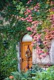 ROTHENBURG, GERMANY/EUROPE - 26 SETTEMBRE: Porta del ristorante nella t fotografie stock libere da diritti