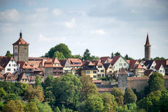 ROTHENBURG, GERMANY/EUROPE - WRZESIEŃ 26: Widok nad miastem o Fotografia Stock