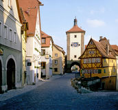 Rothenburg, Germany. Tower with gate in Rothenburg, Germany Royalty Free Stock Photos