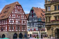 Rothenburg marknadsfyrkant Arkivbilder