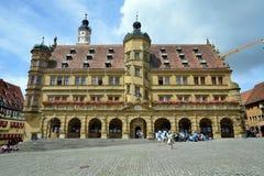 Rothenburg o D Tauberstadhuis Stock Foto