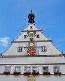 Rothenburg ob der的陶伯城镇厅 库存图片