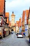 Rothenburg ob der陶伯历史的市 库存图片