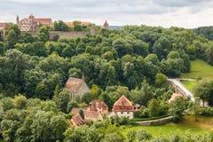 Rothenburg ob der陶伯郊外  图库摄影
