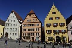 Rothenburg ob der陶伯,市场,德国 免版税图库摄影