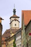 Rothenburg ob der陶伯,德国塔  库存图片