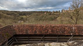 Rothenburg ob der陶伯,德国村庄 免版税库存图片