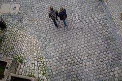 ROTHENBURG OB DER陶伯, BAVARIA/GERMANY - 2017年9月19日: 免版税图库摄影