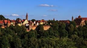 Rothenburg ob der陶伯-德国 库存照片
