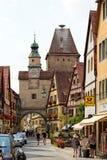 Rothenburg ob der Tauber,巴伐利亚,德国 库存照片