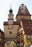 Rothenburg ob der Tauber,巴伐利亚,德国 免版税库存照片