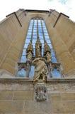 Rothenburg ob der Tauber, ένα άγαλμα Χριστού Στοκ Εικόνες