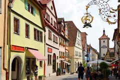 Rothenburg ob der Tauber, Βαυαρία, Γερμανία Στοκ φωτογραφία με δικαίωμα ελεύθερης χρήσης