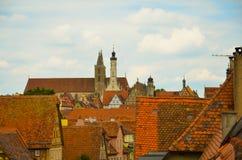 Rothenburg ob der Tauber, επισκόπηση 2 Στοκ Εικόνα