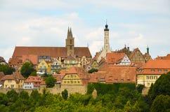Rothenburg ob der Tauber, επισκόπηση 5 Στοκ Φωτογραφία