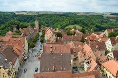 Rothenburg ob der Tauber, επισκόπηση 7 Στοκ Φωτογραφία