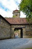 Rothenburg ob der Tauber, οχύρωση 1 πορτών Στοκ φωτογραφία με δικαίωμα ελεύθερης χρήσης