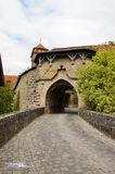 Rothenburg ob der Tauber, οχύρωση 2 πορτών Στοκ Φωτογραφία