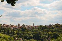Rothenburg ob der Tauber, πανοραμικό 1 Στοκ φωτογραφία με δικαίωμα ελεύθερης χρήσης