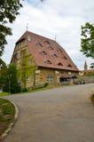 Rothenburg ob der Tauber, σπίτι Noria Στοκ Εικόνα
