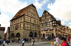 Rothenburg ob der Tauber, τέχνη οικοδόμησης εκθεμάτων Στοκ Εικόνες