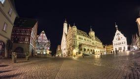 Rothenburg-ob der Tauber am Abend Lizenzfreies Stockbild