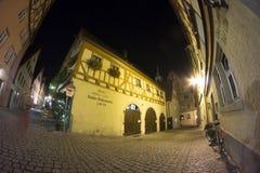 Rothenburg-ob der Tauber am Abend Lizenzfreies Stockfoto