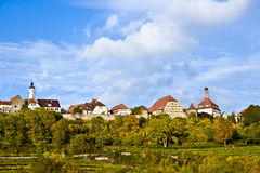 Rothenburg-ob der Tauber, alte berühmte Stadt von den mittelalterlichen Zeiten Stockfoto