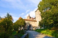 Rothenburg-ob der Tauber, alte berühmte Stadt von den mittelalterlichen Zeiten Stockbilder