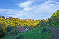 Rothenburg-ob der Tauber, alte berühmte Stadt von mittelalterlichem Zeitse Lizenzfreie Stockfotografie