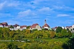 Rothenburg-ob der Tauber, alte berühmte Stadt von mittelalterlichem Zeitse Lizenzfreies Stockfoto