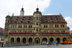 Rothenburg ob der Tauber, Bavaria, Germany. Royalty Free Stock Images