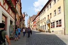 Rothenburg ob der Tauber, Bayern, Deutschland Stockbilder