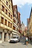 Rothenburg ob der Tauber, Beieren, Duitsland Stock Afbeeldingen