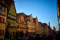 Rothenburg-ob der Tauber am christmastime stockfotografie