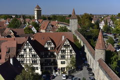 Rothenburg ob der Tauber, City Wall, Germany Stock Photography