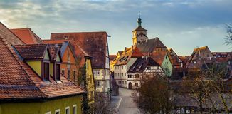 Rothenburg ob der Tauber, Duitsland Stock Foto's