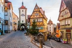 Rothenburg ob der Tauber, Duitsland Royalty-vrije Stock Afbeelding