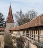 Rothenburg ob der Tauber een historische en middeleeuwse stad en een één van de mooiste dorpen in Europa, Duitsland, stock foto's