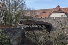 Rothenburg ob der Tauber een historische en middeleeuwse stad en een één van de mooiste dorpen in Europa, Duitsland, royalty-vrije stock afbeelding