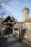 Rothenburg ob der Tauber een historische en middeleeuwse stad en een één van de mooiste dorpen in Europa, Duitsland, royalty-vrije stock afbeeldingen