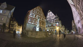 Rothenburg ob der Tauber at the evening Royalty Free Stock Photo