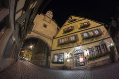 Rothenburg ob der Tauber at the evening Stock Photos