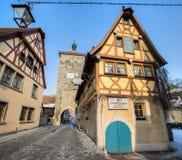 Rothenburg ob der Tauber, Germany - The Plonelein Fork Stock Photo